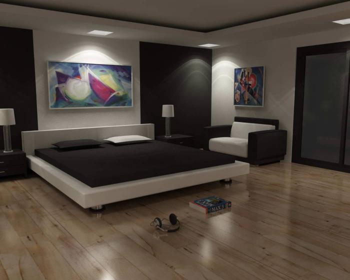 chambre-à-coucher-moderne-et-simple-peintures-posters