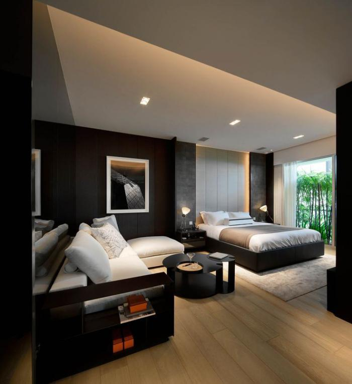 Quelle d coration pour la chambre coucher moderne for Moderne chambre a coucher
