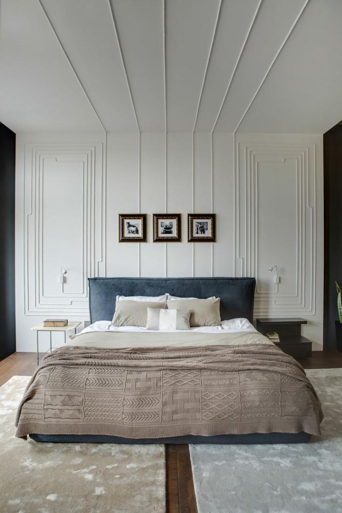 chambre a coucher moderne, jolie chambre à coucher déco élégante