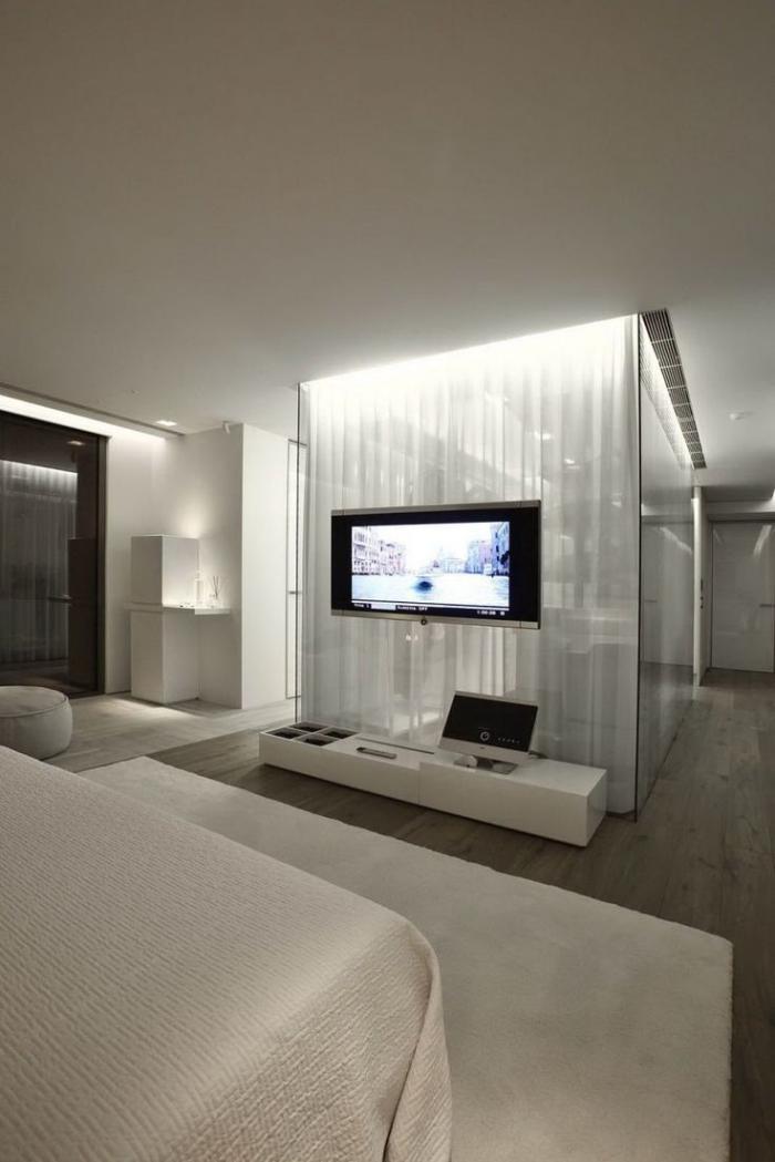 chambre-à-coucher-moderne-idée-déco-en-couleur-crème