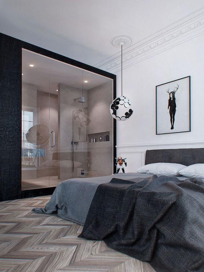 chambre-à-coucher-moderne-intérieur-artistique