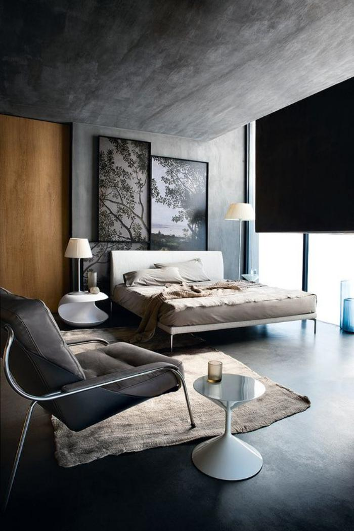 chambre-à-coucher-moderne-phénoménale-ambiance-béton