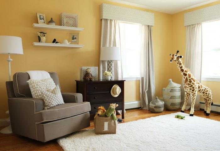 belle decoration a la maison avec le tapis shaggy blanc With tapis chambre bébé avec bouquet de fleurs rouge et blanc