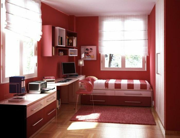 chambre-de-fille-ado-style-compact-rouge