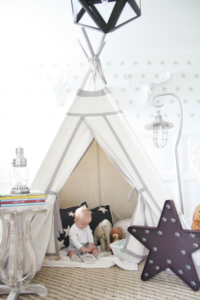 chambre-enfant-fabriquer-un-tipi-tente-tipi-enfant-design-intérieur