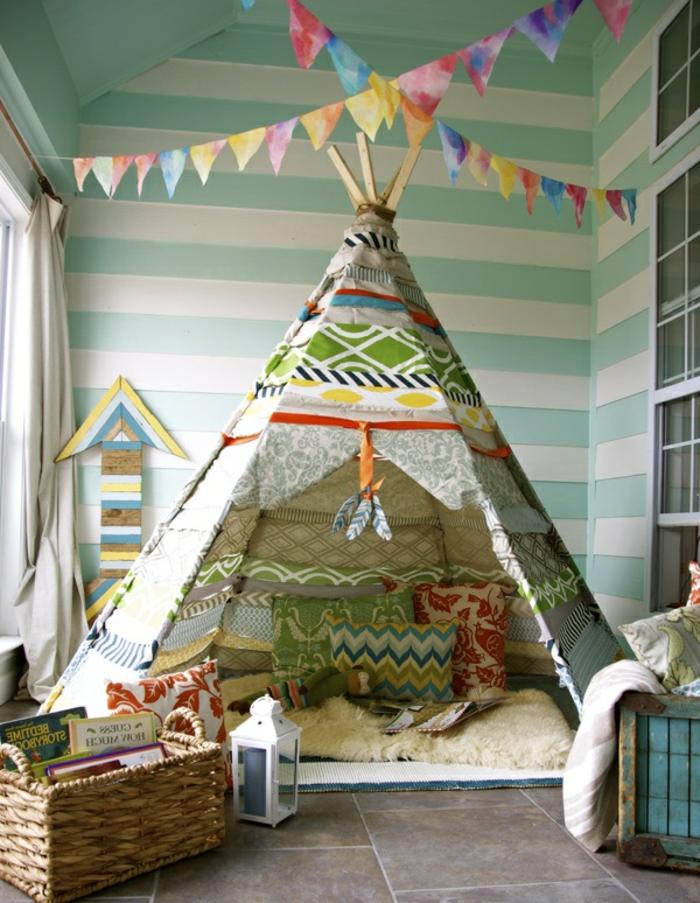 chambre-enfant-fabriquer-un-tipi-tente-tipi-enfant-idée-jouer