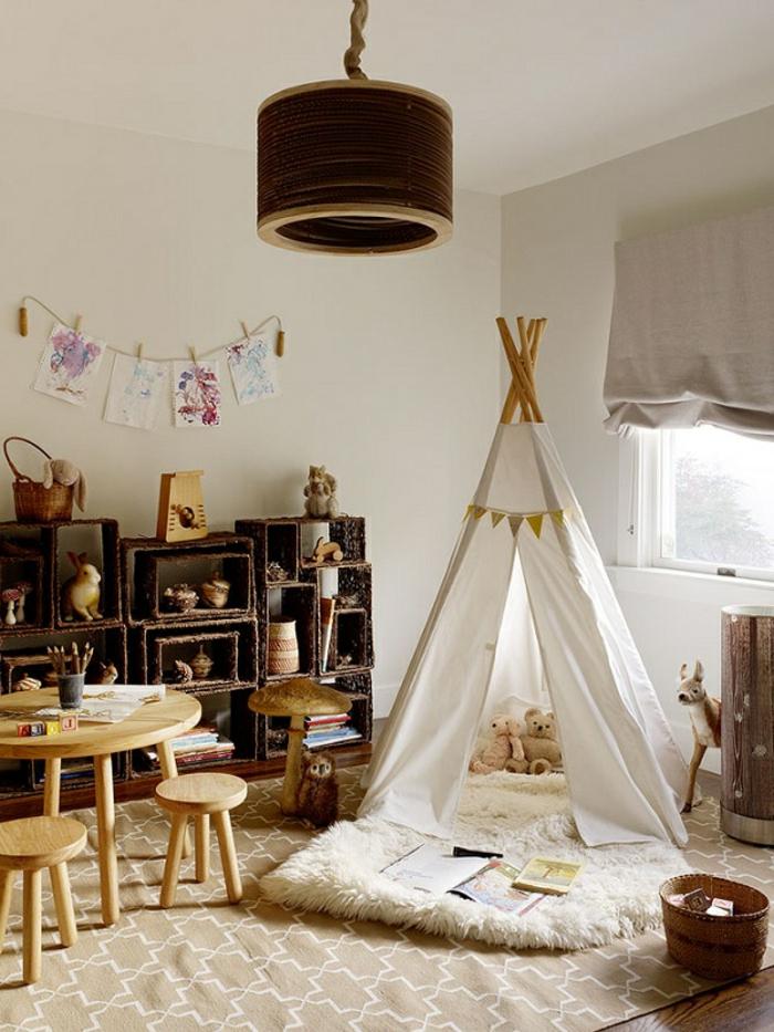 chambre-enfant-fabriquer-un-tipi-tente-tipi-enfant-vous-maison
