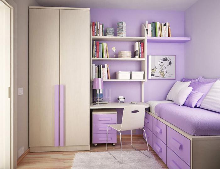 chambre-violette-équipement-contemporain-de-chambre-enfant