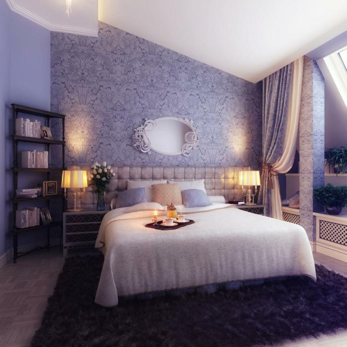 chambre-violette-belle-chambre-à-coucher-style-traditionnel