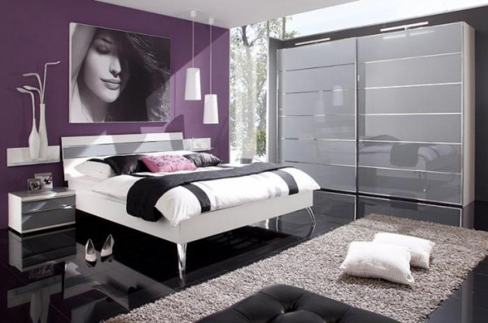 La chambre violette en 40 photos for Chambre a coucher contemporaine