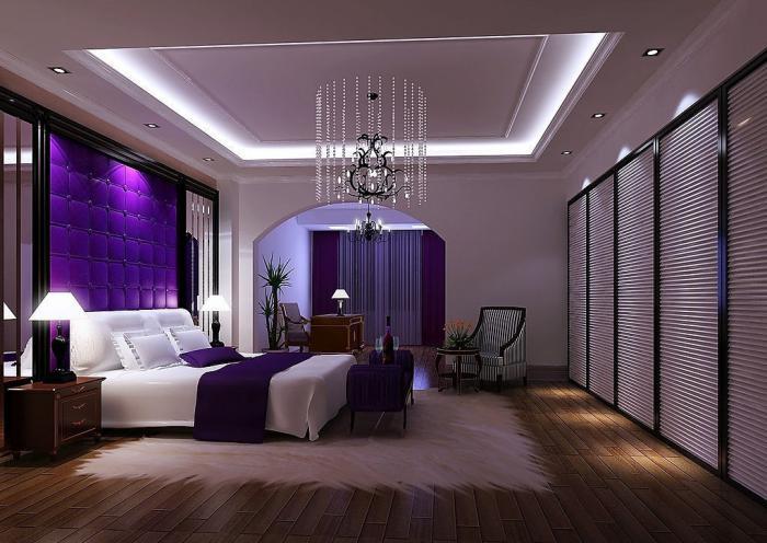 chambre-violette-chambre-à-coucher-dramatique-en-blanc-et-pourpre-1