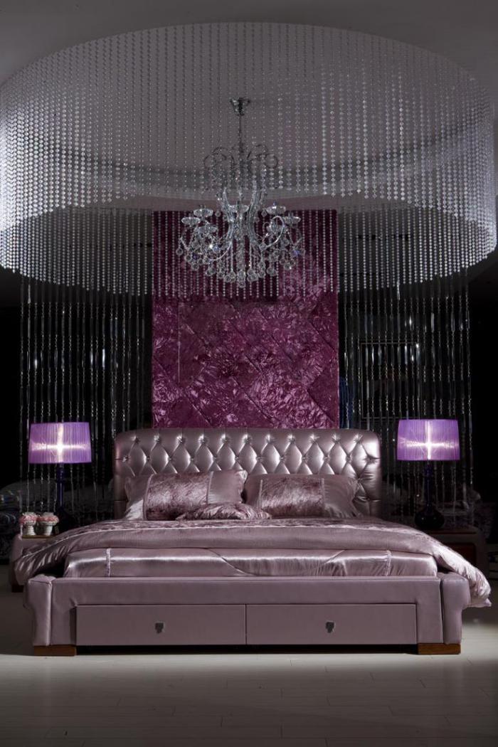chambre-violette-chambre-à-coucher-luxe-noir-et-violet