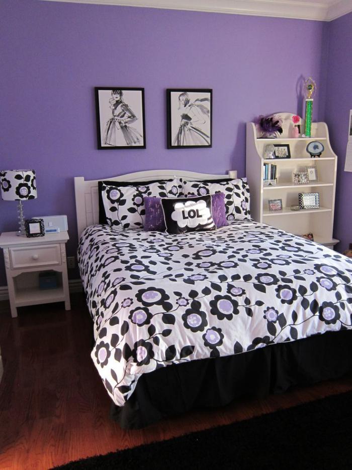 chambre-violette-chambre-d'ado-coquette