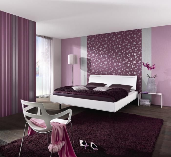 La chambre violette en 40 photos - Chambre adulte violet ...