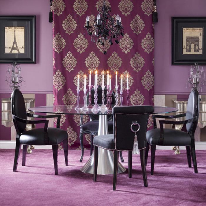 chambre-violette-décorer-la-salle-de-déjeuner-en-couleur-violette