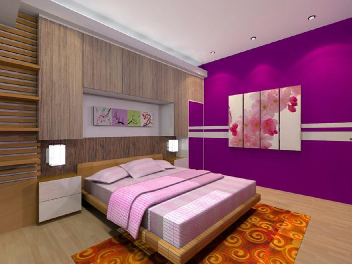 chambre-violette-design-de-chambre-à-coucher-mauve