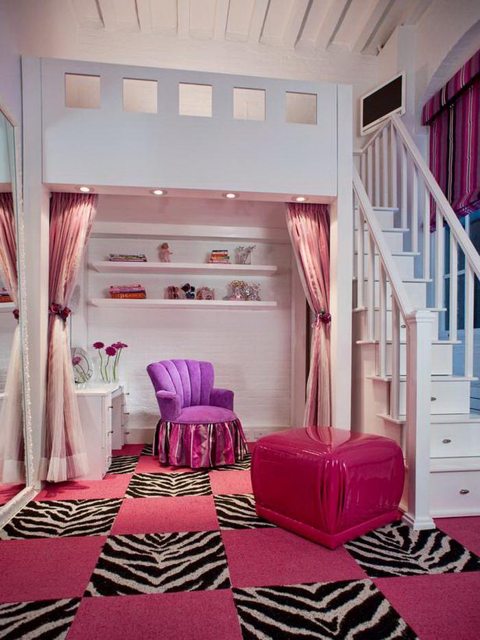 chambre-violette-et-blanche-intérieur-féminin