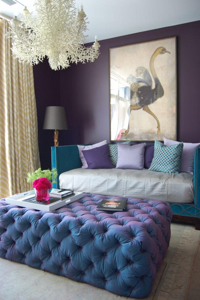 La chambre violette en 40 photos for Blue purple bedroom ideas