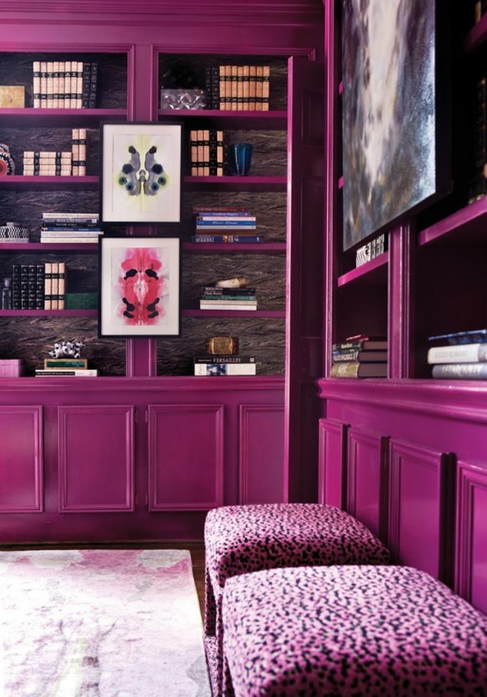 chambre-violette-meuble-mauve-décor