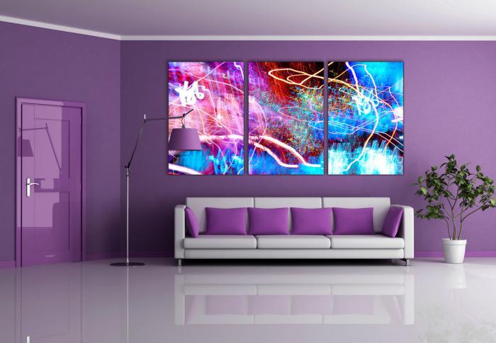chambre-violette-salle-de-séjour-couleur-violette