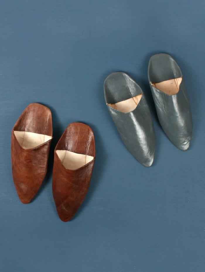 charentaise-homme-pantoufles-hommes-en-cuir-marron-et-gris