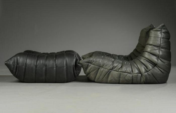 chauffeuse-conforama-en-cuir-gris-foncé-pour-avoir-un-interieur-moderne-sol-gris-et-mur-gris