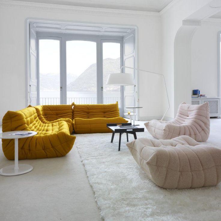 42 photos inspirantes de la chauffeuse basse pour le salon. Black Bedroom Furniture Sets. Home Design Ideas