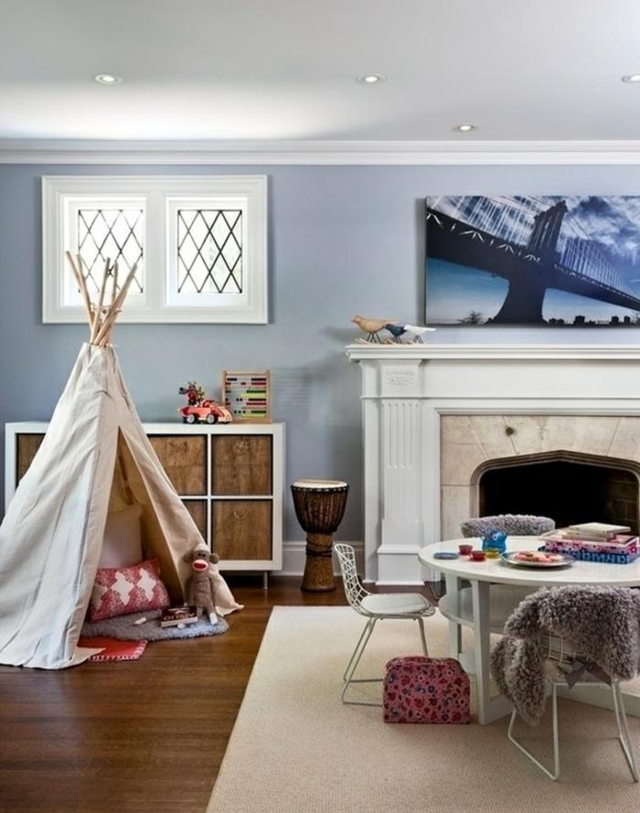 chez-vous-tipi-enfant-tente-de-lit-idée-intérieur-chambre-enfant-belle-idée