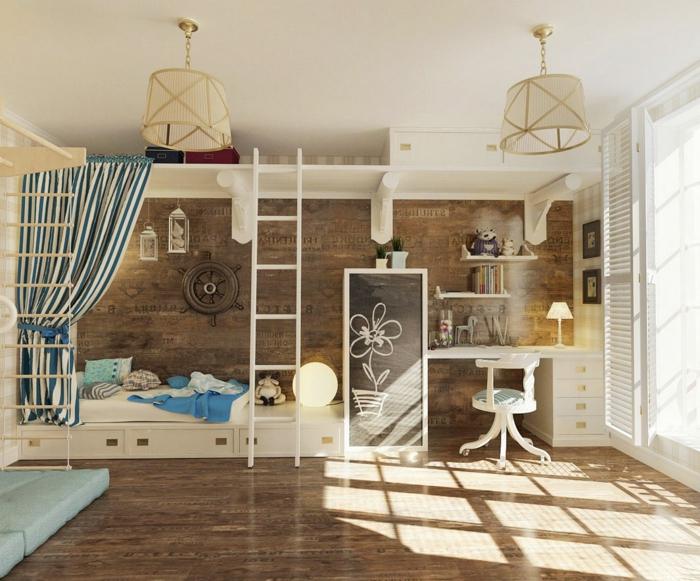 comment-aménager-la-chambre-enfant-créative-beau-bois