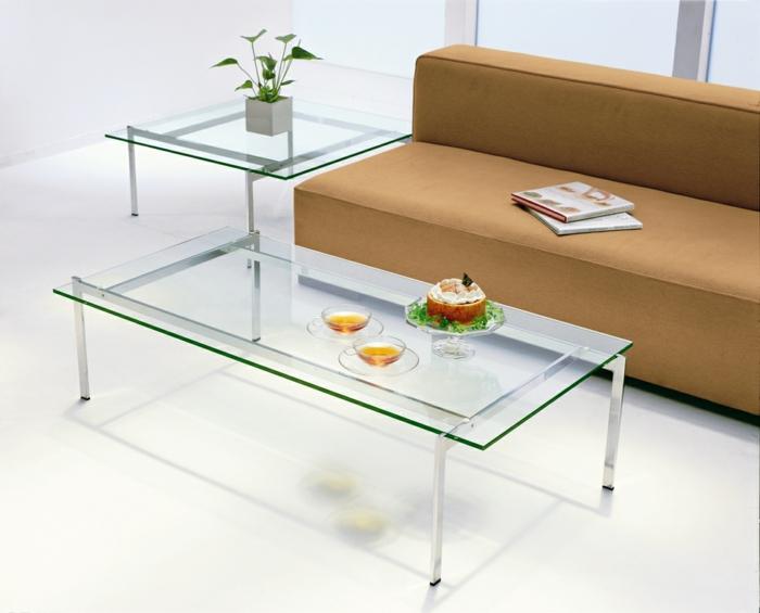 41 variantes en photos de la table de salon en verre - Table en verre moderne ...