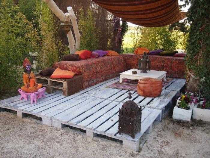Les meilleures id es pour la terrasse en palette - Belle terrasse en bois ...