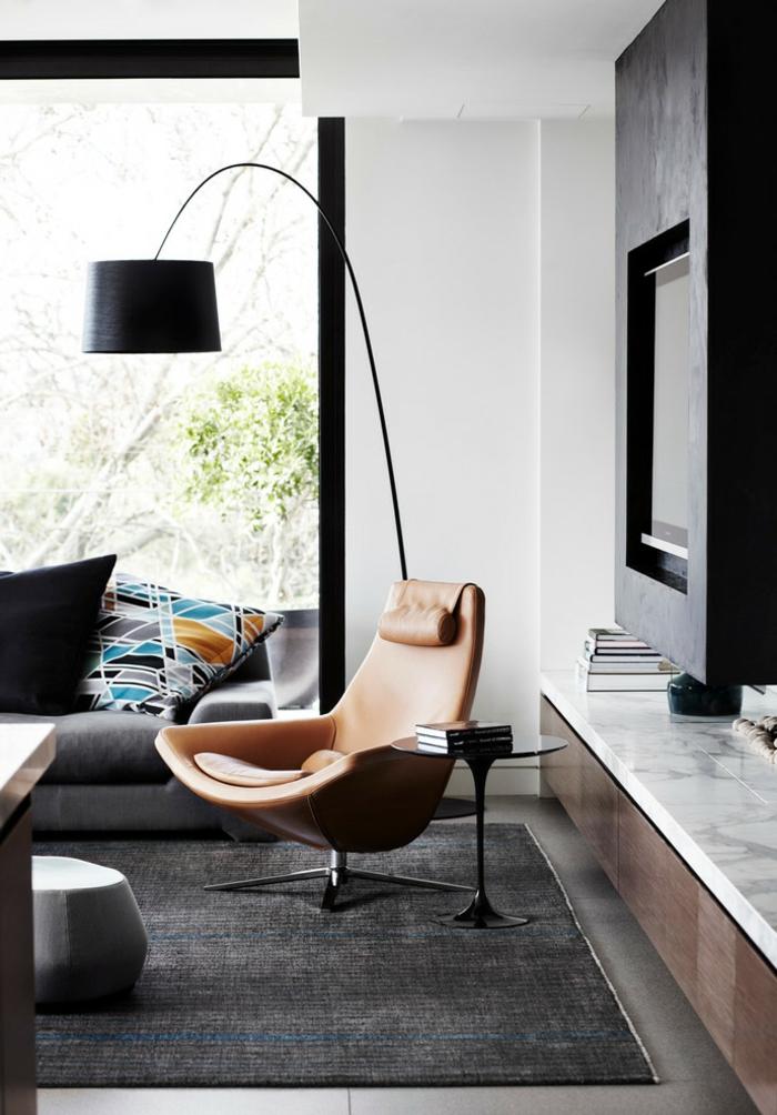 cool-idée-itérieur-faire-l-aménagement-de-la-salle-de-séjour-lampedaire-noir