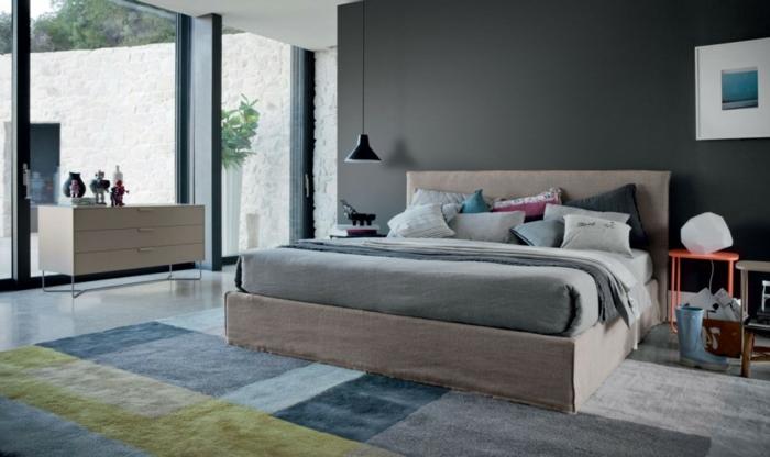 cool-idée-pour-le-tapis-chambre-à-coucher-gris