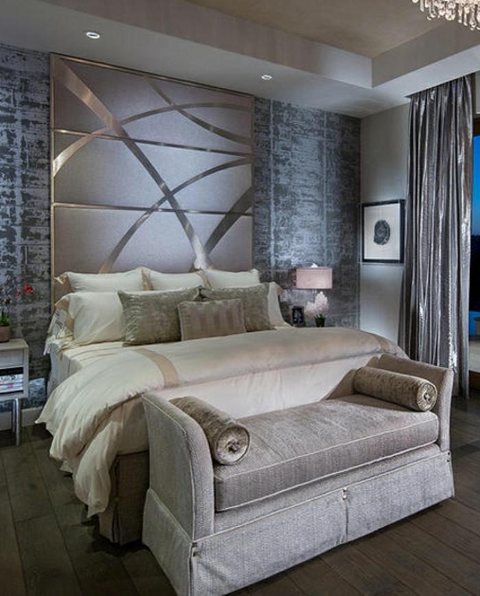 couette-bicolore-lit-chamber-à-coucher-aménagée-lux