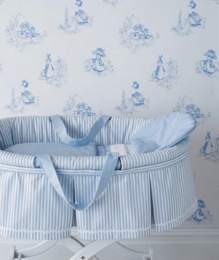 couffin-pour-bébé-panier-bébé-bleu