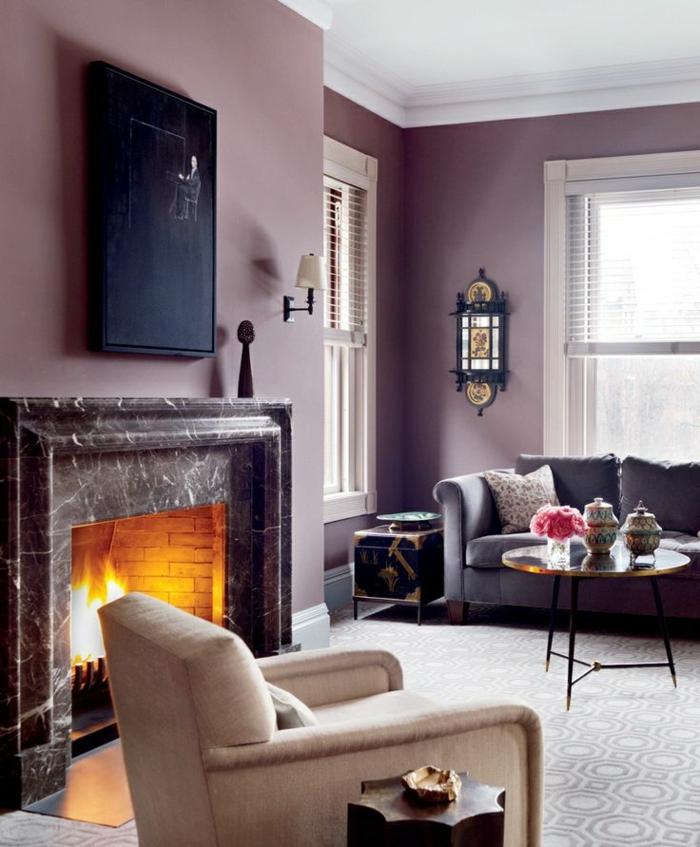 couleur-parme-violet-couleur-idées-déco-la-cheminée-tableau