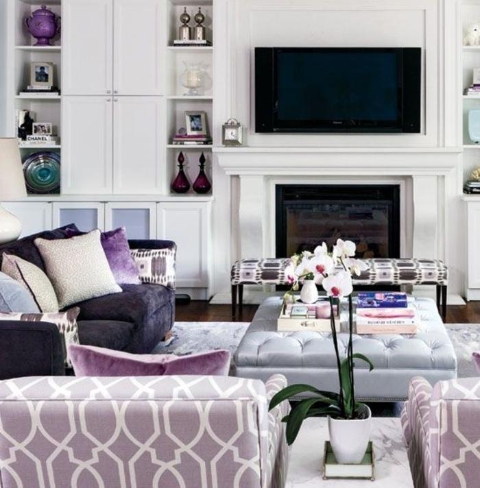 couleur-parme-violet-couleur-idées-déco-salon-fauteuil
