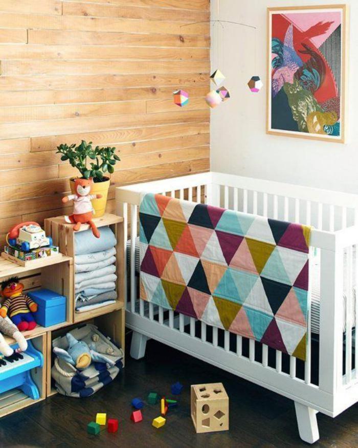 couverture-patchwork-bébé-triangles-multicolores