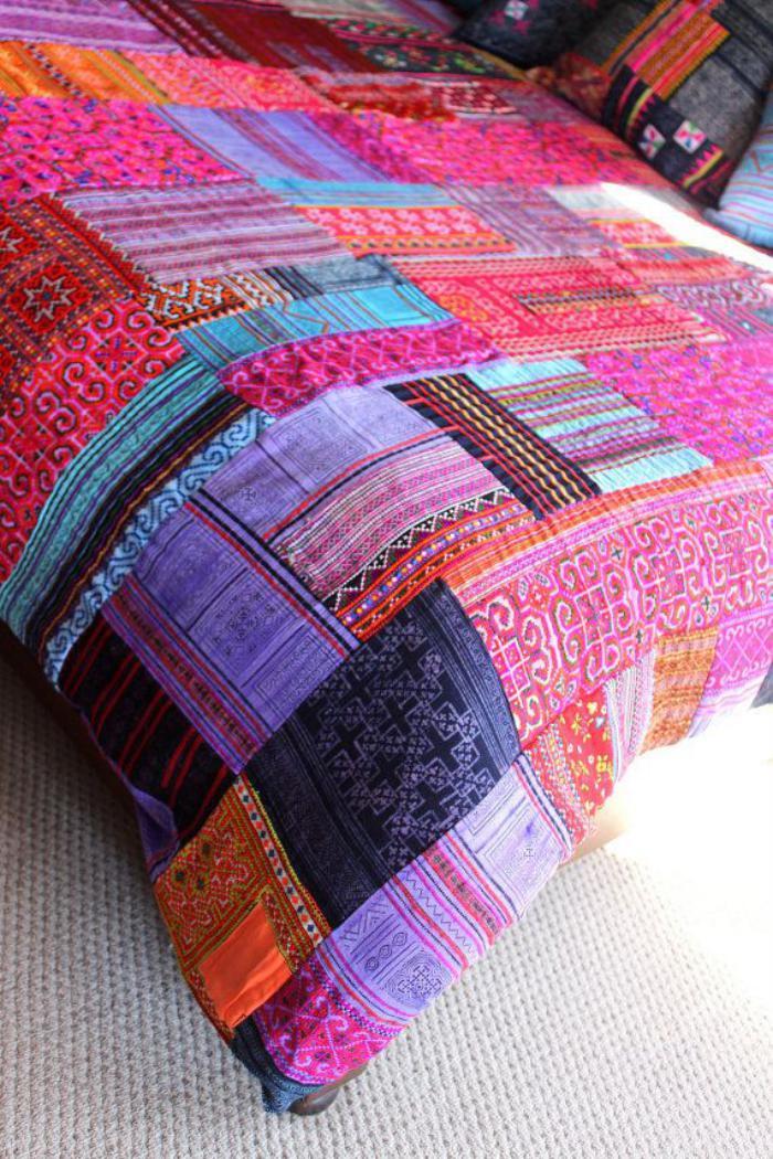 couverture-patchwork-beau-plaid-patchwork-riches-couleurs