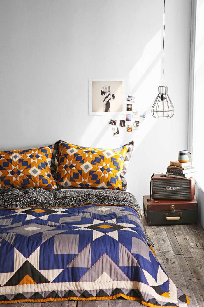 couverture-patchwork-belle-chambre-à-coucher