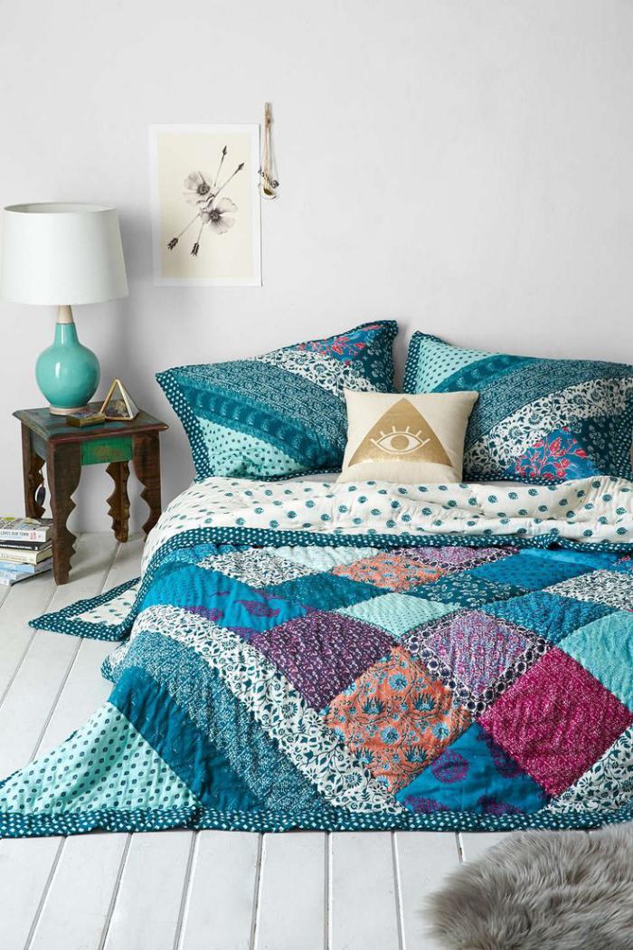couverture-patchwork-dessus-lit-style-patchwork