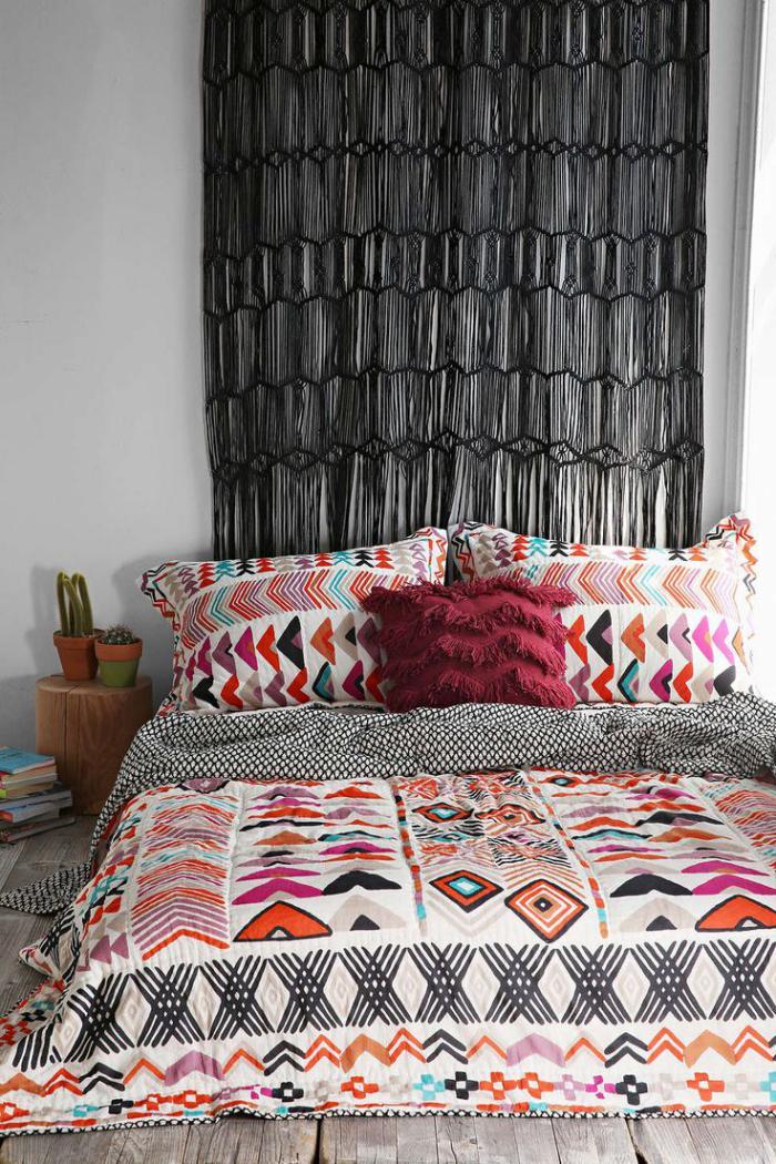 couverture-patchwork-jolie-couverture-de-lit-imprimés-patchwork