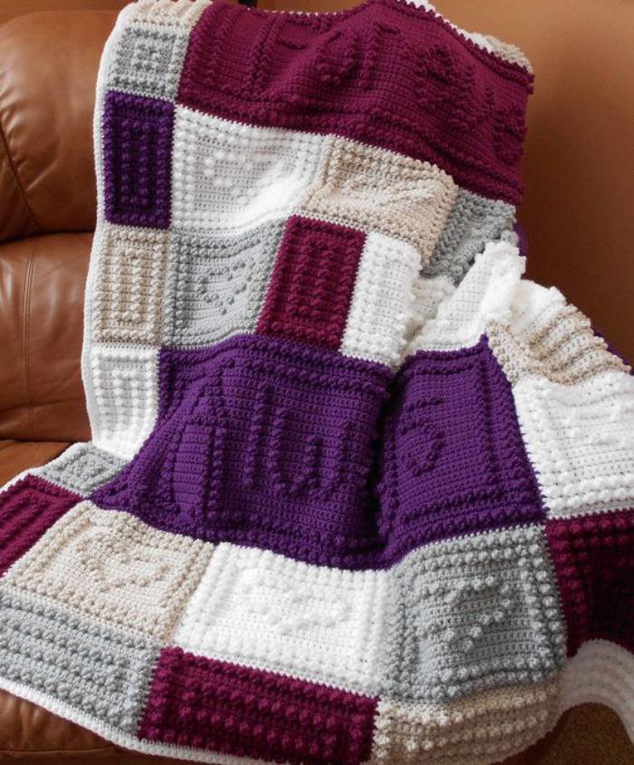 tricoter un patchwork nos conseils. Black Bedroom Furniture Sets. Home Design Ideas