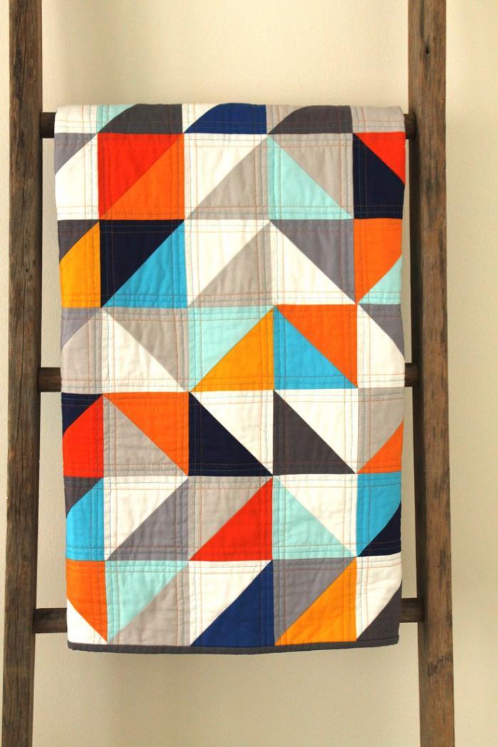 couverture-patchwork-triangles-plaid-patchwork