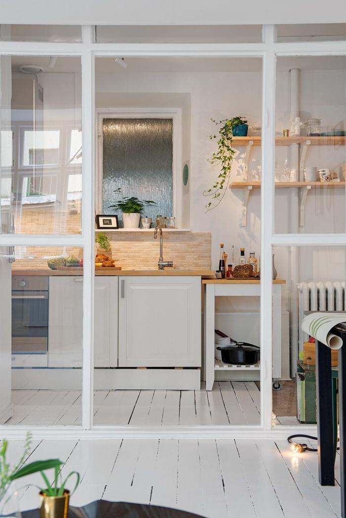 cuisine-scandinave-cuisine-style-scandinave-porte-vitrée