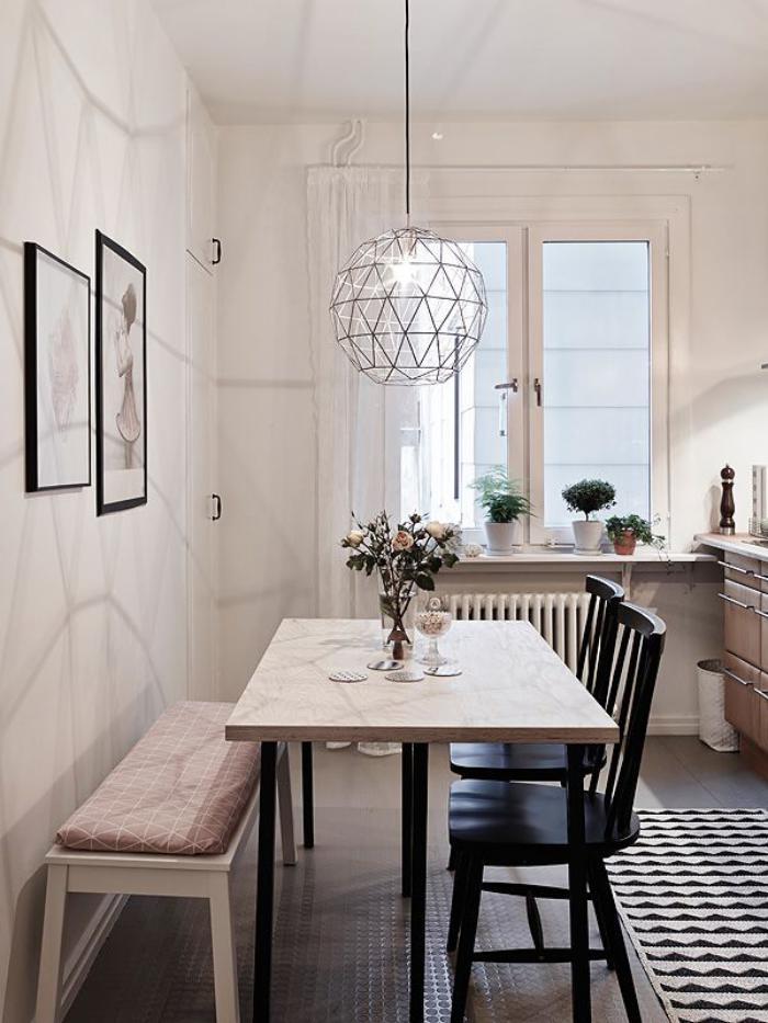 40 photos de cuisine scandinave les cuisines de reve With salle À manger contemporaine avec suspension cuisine scandinave