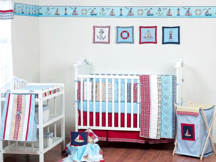 déco-chambre-bebe-lit-linge-de-lit-bébé-pas-cher-idée