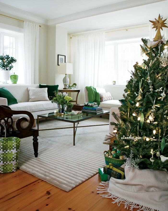 déco-noël-deco-de-noel-décorations-de-noel-chaude-blanc-et-vert