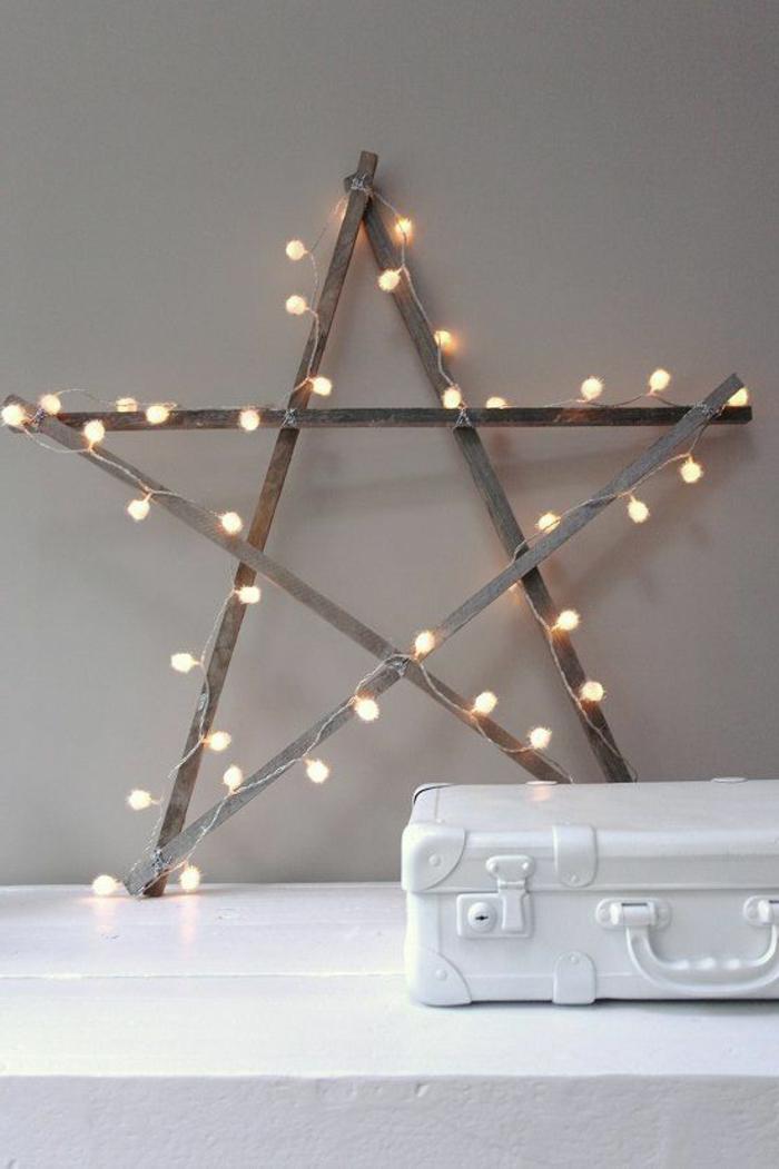 déco-noël-pour-votre-maison-intérieur-déco-table-noël-étoile-lumières
