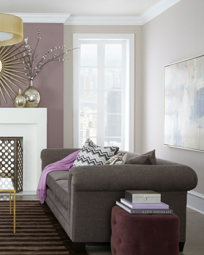 chambre taupe et parme. Black Bedroom Furniture Sets. Home Design Ideas